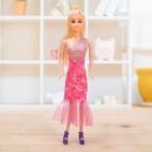 Doll model Anna in a dress, MIX