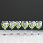 "A set of wine glasses ""rose"" 6 PCs 220 ml"