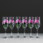 "A set of champagne glasses ""Orchid"" 6 PCs 180 ml"