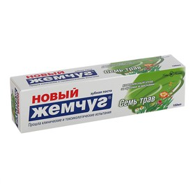 """Зубная паста Новый Жемчуг """"Семь Трав"""" 100мл - фото 7366969"""