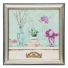 """The painting """"Floral corner"""" 18x18 cm (21x21 cm)"""