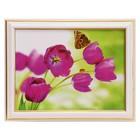 """The painting """"Pink tulips"""" - 15x20 cm (18х23см)"""