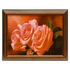 "The painting ""Pink rose buds"" - 15x20 cm (18х23см)"