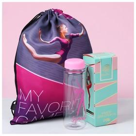 Набор My favorite game: сумка на лямках, бутылка для воды, полотенце