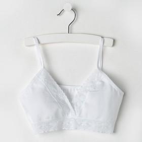 Топ для девочки, цвет белый, рост 140-146 см