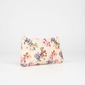 Cosmetic bag simple Buttercups, 19*1,5*10 the division zipper, beige