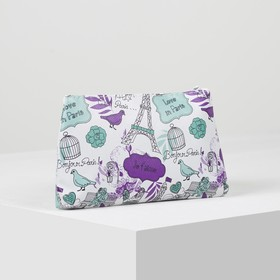 The cosmetic bag is a simple City, 19*1,5*10 the division with zip, purple