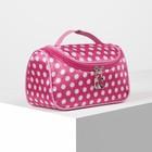 Cosmetic bag-bag Peas 21*9*12 the division zipper, mirror, white/raspberry