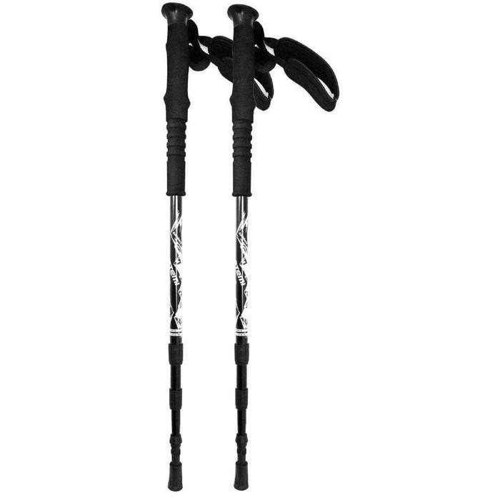 Треккинговые палки Atemi телескоп., 18/16/14 мм, twist lock, antishok, р. 65-135 см, ATP-06 black,