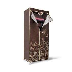Вешалка-гардероб с чехлом, 700x440x1550,темно-коричневый
