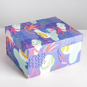 Коробка складная Flowers, 31,2 х 25,6 х 16,1 см