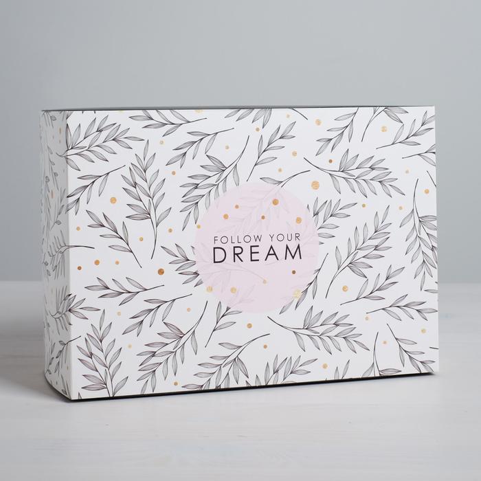 Коробка складная Follow your dream, 25 × 18 × 10 см - фото 3644498