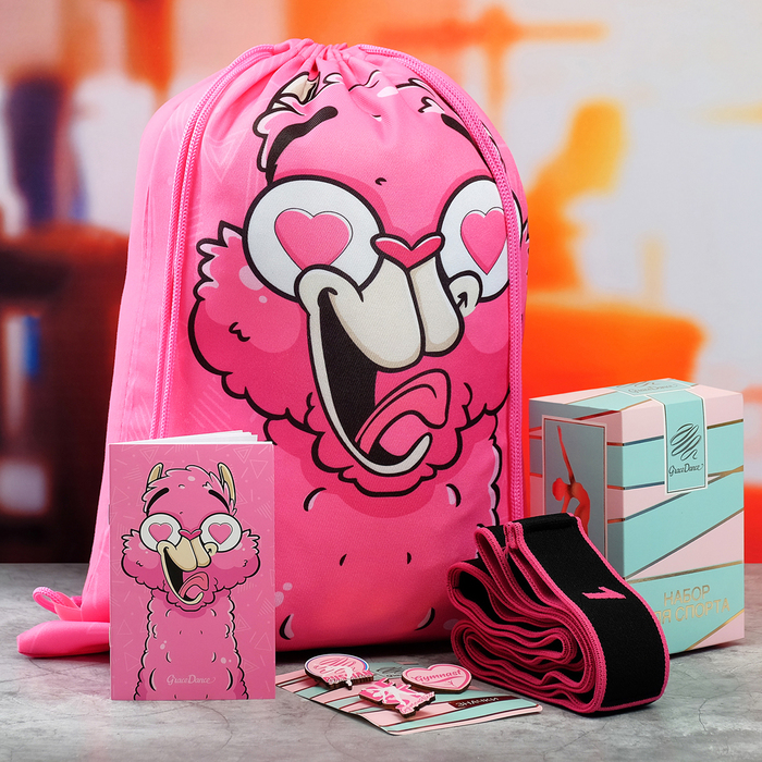 Набор Grace Dance: сумка на лямках, набор значков, блокнот, эспандер для растяжки