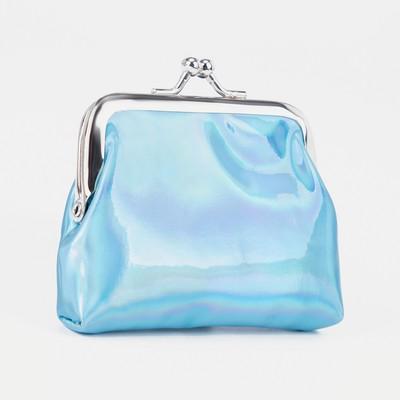Purse children 02-07-01 gloss 9*1,6*8,2 cm, DEP on the clasp, blue