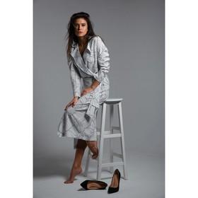 Платье женское MIST двубортное на поясе, р-р 40-42, белый