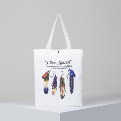 Bag textile Free Spirit, 34*3*37, otd on the magnet, no padding. white