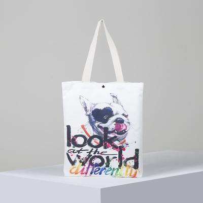 Bag, textile, Handsome, 34*3*37, otd on the magnet, no padding. white