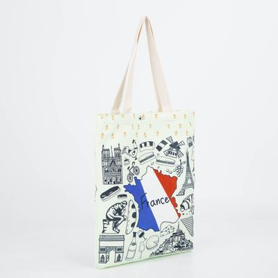 Bag textile City, 34*3*37, otd on the magnet, no padding. white