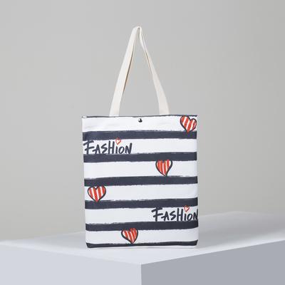 Textile bag Heart 34*3*37, otd on the magnet, no padding. white