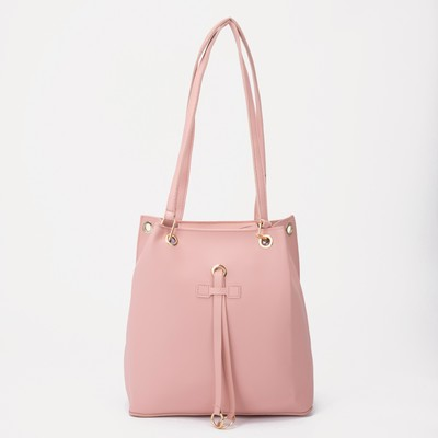 Bag wives Lida 26*13*28, otd with zipper, pink