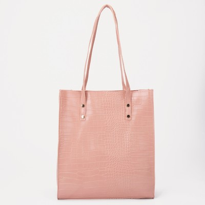 Bag wives Louise,30*10*33,otd with zipper, pink