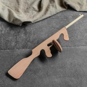 """Сувенирное деревянное оружие """"Автомат Томсон"""", 70 см, массив бука"""