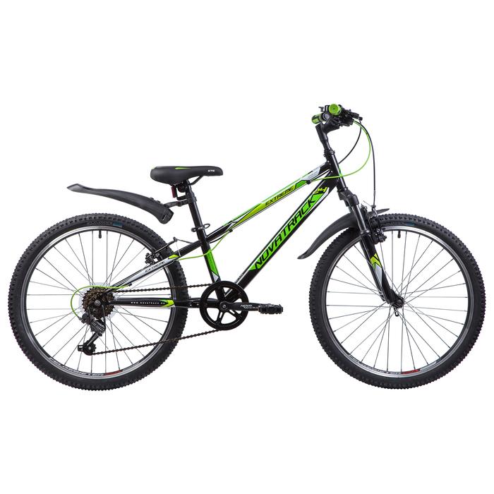 """Велосипед 24"""" Novatrack Extreme, 2019, цвет чёрный, размер 10"""""""