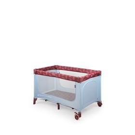 Кровать-манеж Happy Baby Martin, цвет голубой