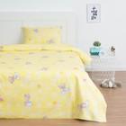 Постельное бельё Экономь и Я 1,5 сп «Мишки», цв.желтый, 145х210 см, 150х210 см, 50х70 см, бязь - фото 76547374