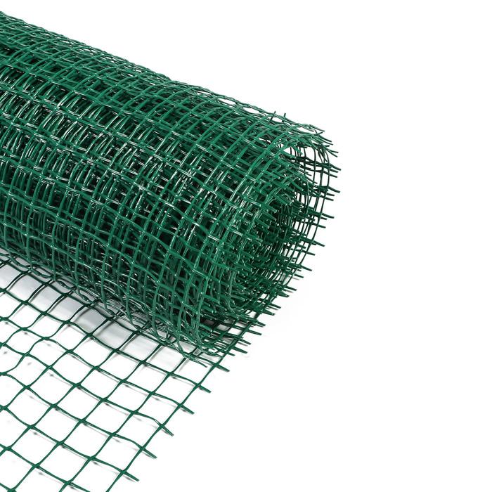 Сетка садовая, 1 × 20 м, ячейка 33 × 3,3 см, зелёная