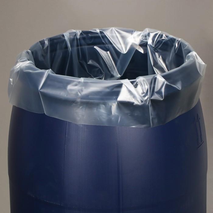 Мешок, вкладыш в бочку, 100 литров, 63 × 105 см, 100 мкм - фото 809232