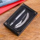 Набор: ручка и нож складной (черный) в картонной коробке