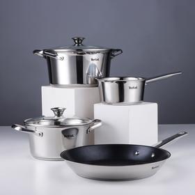 Набор посуды Tefal Simpleo: ковш 1,5 л, кастрюли d=20/24 см (2,7/4,8 л), сковорода d=28 см