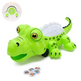 Робот радиоуправляемый «Крокодил», световые и звуковые эффекты, работает от батареек, МИКС Ош