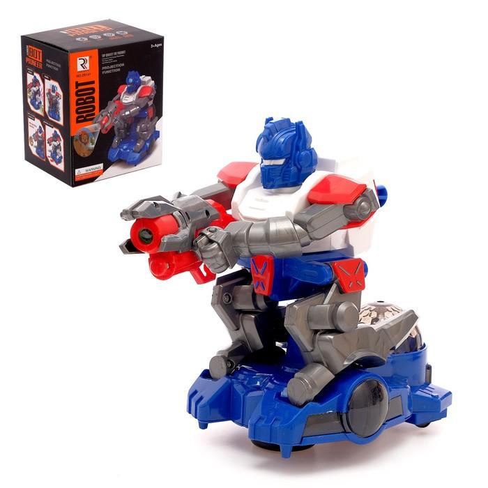 Робот «Стрелок», с проектором, звуковые эффекты, цвета МИКС