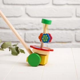 Детская каталка на палочке «Цветок» 8,5×15×50, МИКС