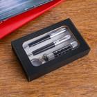 Набор подарочный 3в1 (2 ручки, фонарик черный) - фото 8873409