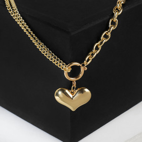 """Pendant """"Heart ring"""" color gold"""