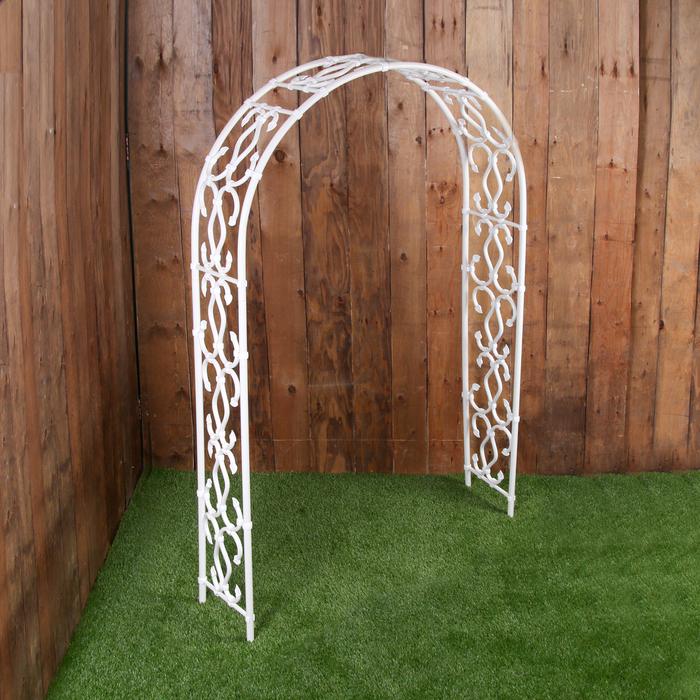 Арка садовая, 210 × 120 × 35 см, пластик, белая, «Стрельна»