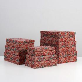 """Набор коробок 10 в 1 """"Отражения крафт"""", 36,5 х 26,5 х 12 - 23 х 13 х 3 см"""