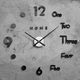 """Часы-наклейка DIY """"Аба"""", чёрные, d=70 см, плавный ход, (+механизм)"""