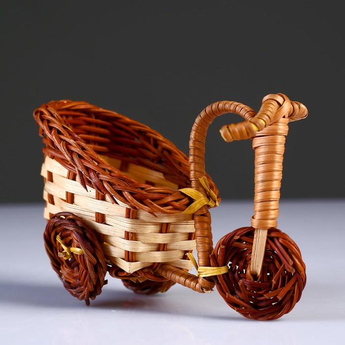 Плетеные сувениры (Велосипед) 13х7 см Н 10 см.(Бамбук срезан)