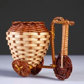 Wicker gift (Bike) 15x9 cm H 12 cm (Bamboo cut)