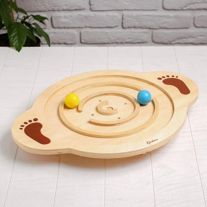 Разивающая игра «Балансирующая доска с мячиком» 6×48,5×37,5 см