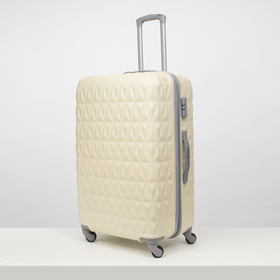 "Suitcase bol 28"" Geometry, 45*30*70, otd zip, code lock, 4 wheel drive, beige"