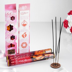 "Gift set of incense ""Love. March 8"" + stand"