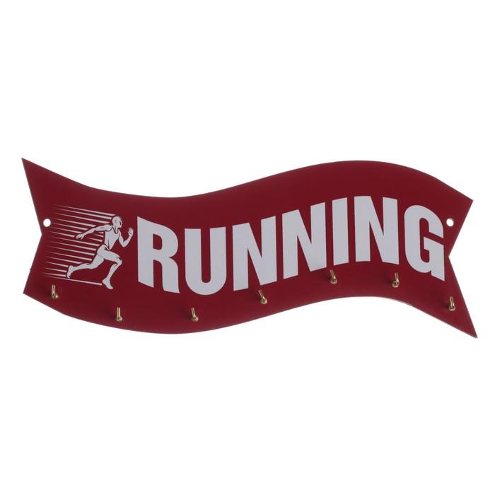 Медальница Running, с крючками, 30 х 12 см