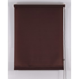 Рулонная штора Магеллан (шторы и фурнитура) «Комфортиссимо», 45×160 см, цвет шоколадный