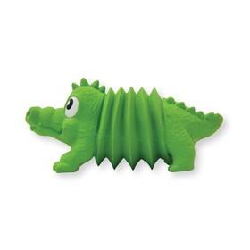 """Игрушка OH Accordionz """"Крокодил"""" для собак, с пищалкой, латекс, 15 см"""