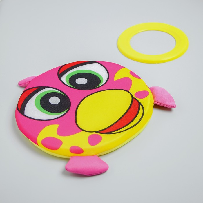 Набор игровой, 2 предмета: летающая водная тарелка, обод, виды МИКС
